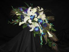 peacock feather bouquet - Google Search