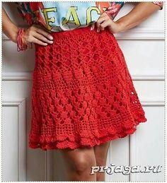 Falda en rojo