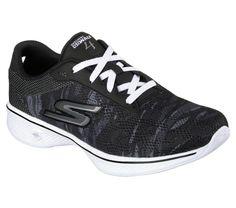 SKECHERS GO WALK MOTION Womens 6.5 Black 14147 BKW NEW #Skechers #Athletic