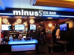 Minus 5º Ice Bar, in both the Monte Carlo and Mandalay Bay, Las Vegas