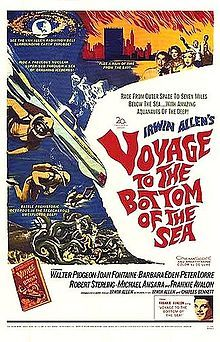 Voyage to the Bottom of the Sea is an American science fiction film, produced and directed by Irwin Allen, released by 20th Century Fox in 1961. The story was written by Irwin Allen and Charles Bennett. Walter Pidgeon starred as Admiral Harriman Nelson, with Robert Sterling as Captain Lee Crane. The supporting cast included Joan Fontaine, Barbara Eden, Michael Ansara, and Peter Lorre. The theme song was sung by Frankie Avalon, who also appeared in the film.