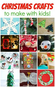 Kids love doing craft projects during the holidays! Here are 13 fun Christmas crafts projects to make with your kids after school. Many of them would also make great homemade gifts!
