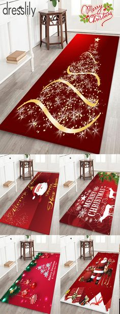 Warm up your home with Christmas rugs and doormats. Shop more accent rugs along with holiday accessories and decor. - Accent Rugs - Ideas of Accent Rugs Diy Christmas Videos, Christmas Rugs, Christmas Plants, Christmas Tree Star, Classy Christmas, Merry Christmas Santa, Christmas Tree Pattern, Christmas Canvas, Christmas Tree With Gifts