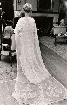 Vintage caped dress