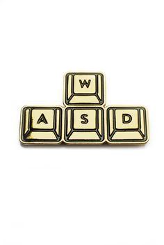 [£5.11] GAMETEE — WASD PC Gaming - Enamel Pin Badge