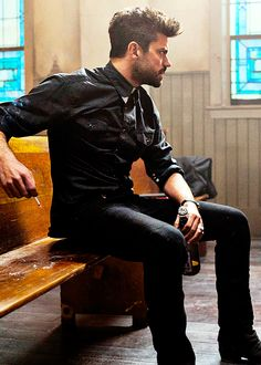 Dominic Cooper in Preacher Preacher Amc, Tango, Tv Preachers, Dominic Cooper, Ex Husbands, James Mcavoy, Just Girly Things, Man Crush, Look Fashion