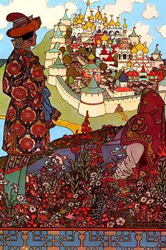 рисунки к сказкам (Ilustrations of Russian Fairy Tales By Ivan Bilibin)