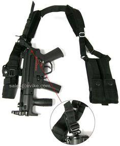 Evike.com Airsoft Guns - Tac. Gear/Apparel | Evike.com Airsoft Guns - Chest Rigs & Harnesses | Evike.com Airsoft Guns - Matrix Mil-Force MP5K Mac11 UZI Shoulder Harness w/ Magazine Pouches |