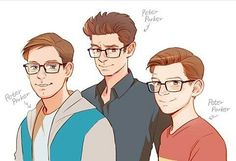 Awww all the Peters!! Tobey and Tom are my boys<3