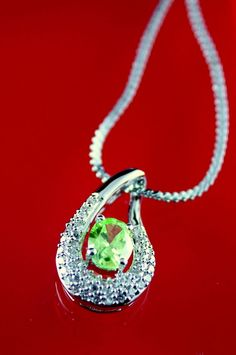 Green Pendant, Green Cubic Zirconia Stone, Gold Plated Necklace in Clothing, Shoes & Accessories | eBay