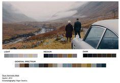 Criação da designer gráfica Roxy Radulescuis, o site Movie in Color traz cenas de filmes e suas respectivas paletas de cores, separadas por luminosidade.