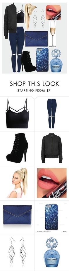 """""""new years eve party"""" by laurajessica ❤ liked on Polyvore featuring Topshop, Forever Link, Fiebiger, Rebecca Minkoff, Marc Jacobs, RogaÅ¡ka, black, Blue and marcjacobs"""