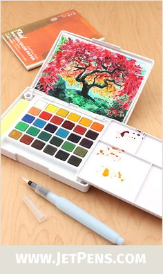 The ultra-portable and blendable Sakura Koi Watercolor Field Sketch Box Set is now available as a 30 Color Palette.