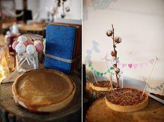 Styling Autumn Wedding| Real Wedding Autumn Wedding Food Ideas | Pies and Tarts Bar for your Autumn Wedding |Confetti.co.uk