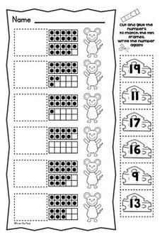 Ten Frame Worksheets $
