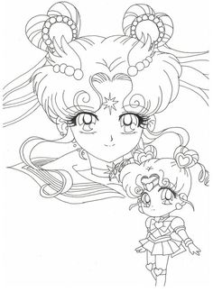 chibi moon Coloring Pages   sailor chibi chibi colouring pages