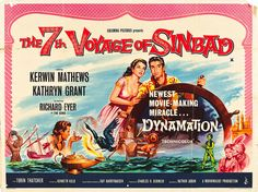 Voyage Of Sinbad. Early film with effects by Ray Harryhausen, a favourite of mine as a child and still is today. It looks as good now as it must have done all those years ago when it first came out. Great Movies, New Movies, Awesome Movies, Sinbad The Sailor, Local Movies, Adventure Movies, Columbia Pictures, Fantasy Movies, Horror Films