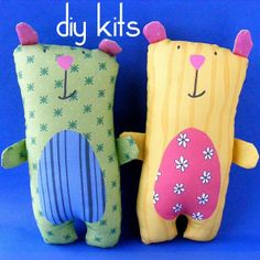 DIY Teddy Bear Kit (i dont want the kit i'd rather make from scratch) but i like his face :)