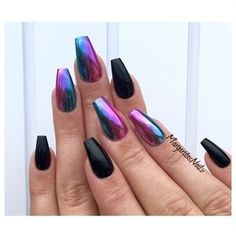 Ombré Chrome Coffin Nails Nail Art Gallery