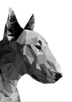 Geometric Art Bullterrier