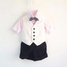 Sumen 4PCS Baby Suits Boys Wedding Shirts+Waistcoat+Long Pants+Tie Set