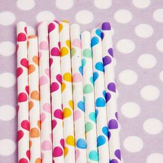 Cute polka dot straws
