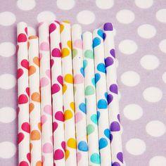 Cute polka dot straws