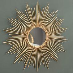Maison dumond -Espejo de metal dorado Magellan