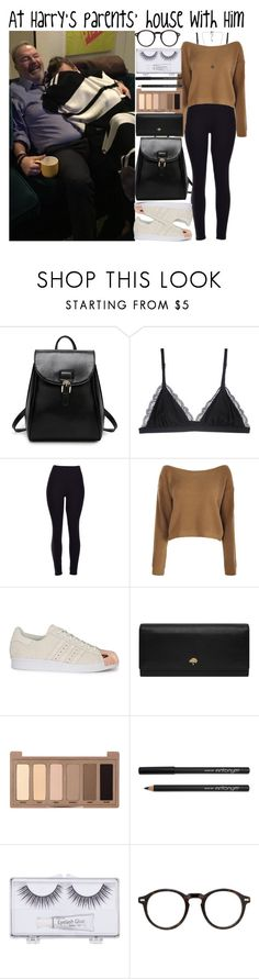 """""""At Harry's parents' house with Him"""" by heaven-139 ❤ liked on Polyvore featuring Cosabella, Boohoo, adidas Originals, Mulberry, Urban Decay, Sonia Kashuk, Moscot and Vero Moda"""