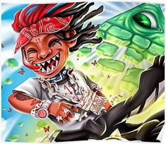 Trippie Redd Life's a Trip Album Cover Poster Rap Music Artist Print 12x12-32x32