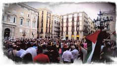 Barcelona in support of Palestinian people #Gaza @HiginiaRoig. #GazaUnderAttack