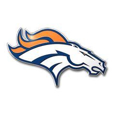 ONE DENVER BRONCOS, ALUMINUM, FULL COLOR, AUTO EMBLEM #NFL #DenverBroncos