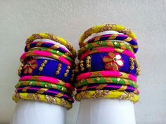 Diy Jewelry, Handmade Jewelry, Jewelry Design, Fashion Jewelry, Jewlery, Silk Thread Bangles, Thread Jewellery, Bangle Box, Bangle Bracelets