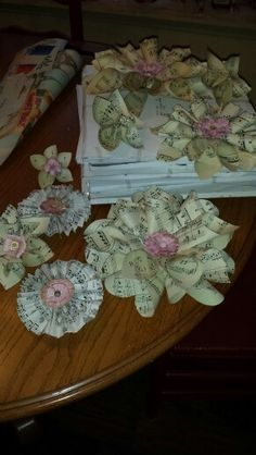 Paper things I've been working on for April wedding. Suzy -Moonflower Cottage