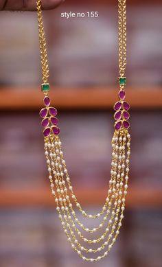 Beaded Jewelry Designs, Gold Jewellery Design, Diamond Jewellery, Necklace Designs, Pearl Jewelry, Indian Jewelry, Antique Jewelry, Jewelery, Pearl Necklace