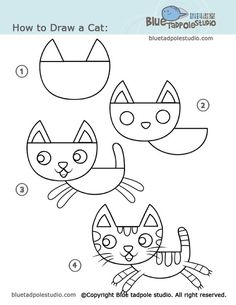 step by step 'how to draw' many different things for kids!