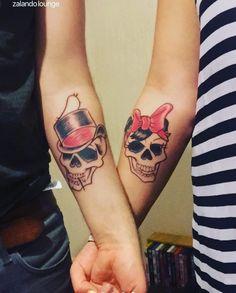 #Couples#Tats Partner Tattoos, Couple Tattoos, Leg Tattoos, Girl Tattoos, Sugar Skull Girl Tattoo, Matching Tats, Wedding Tattoos, Marceline, Future Tattoos