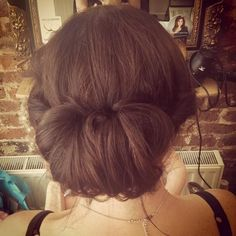 pretty updo ❤ liked on Polyvore featuring beauty products, haircare, hair styling tools, hair and buns