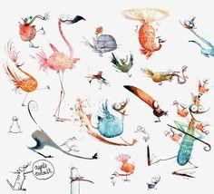 Planches de personnages - Agnès Ernoult