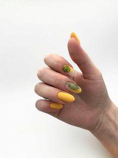 Acrylic Nails Yellow, Cute Acrylic Nails, Yellow Nails, Cute Nails, Manicure Nail Designs, Nail Manicure, Gel Nails, Picasso Nails, Minimalist Nails