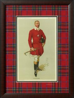 Jeffrey Banks- Lord Annaly Framed Print with Royal Stewart Tartan Mat. Equestrian Decor, Equestrian Style, Equestrian Bedroom, English Style, Old English, Scottish English, Royal Stewart Tartan, Fox Hunting, Scottie Dog