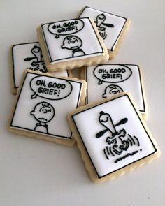snoopy cookies, charlie brown cookies, peanuts cookies