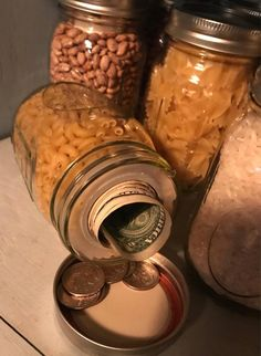 Set of 4 Mason Jar secret storage stash jars image 4 Secret Storage, Hidden Storage, Food Storage, Storage Jars, Canning Jar Storage, Jewelry Storage, Survival Tips, Survival Skills, Survival Quotes