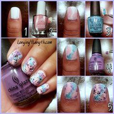 Gradient Nail Tutorial #nails #nail http://pinterest.com/ahaishopping/