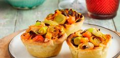 Shredded chicken and mango atchar mini quiches with pumpkin seeds. recipes, chicken, bake