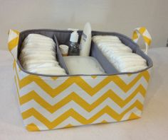 XL Diaper Caddy 13x11x7 Fabric Bin Fabric Storage by Creat4usKids, $58.00