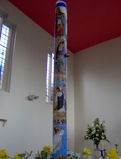 Very detailed, hand painted Paschal Candle