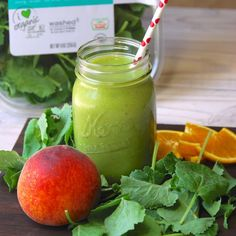 Try this Life's A Peach kale smoothie from @goofyfootfoods! made with #organicgirl #babykale http://goofyfootfoods.com/2014/06/04/lifes-a-peach-green-smoothie/…