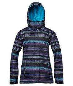 There is a blizzard coming, but you have your Roxy American Pie Snowboard Jacket for women on hand so you can hit the slopes without worry. This Roxy snowboard jacket provides comfort and convenience, with an adjustable and helmet compatible hood and Snap Away powder skirt system to keep out snow and water as you ride. You are sure to stay warm and dry in this snowboard jacket, thanks to the quality 100% polyester outer material, Thinsulate insulation, and taffeta lining.