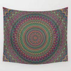 Flower mandala wall tapestry